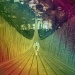 虹の橋を犬が渡る